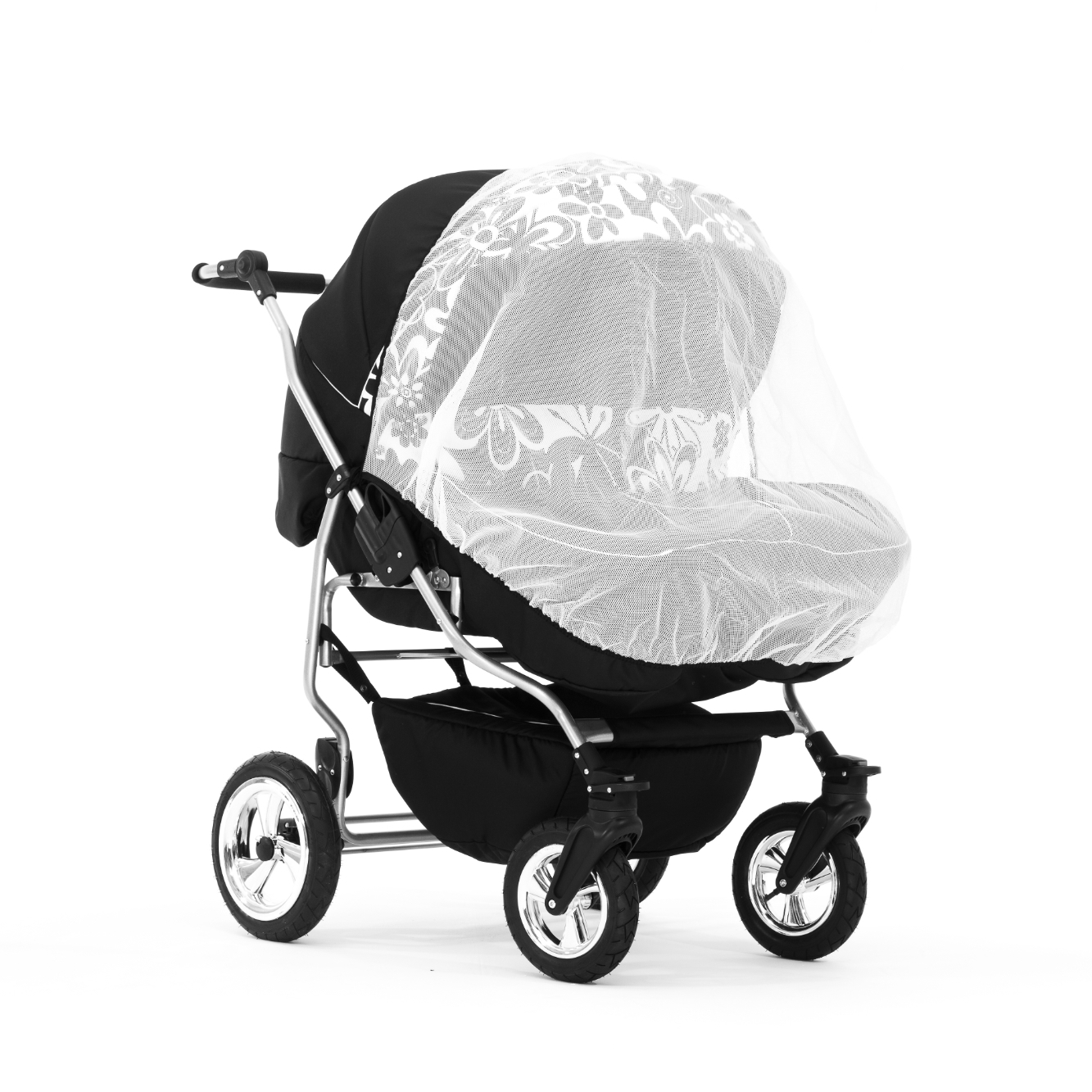 Double Stroller Raincover Compatible With Most Double Pushchair K29